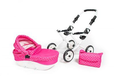 Kočík pre bábiky ružový Jasmine Kids psík detské kočíky 2020