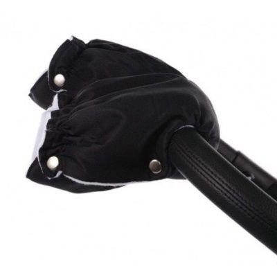 Rukavice na kočárek černé