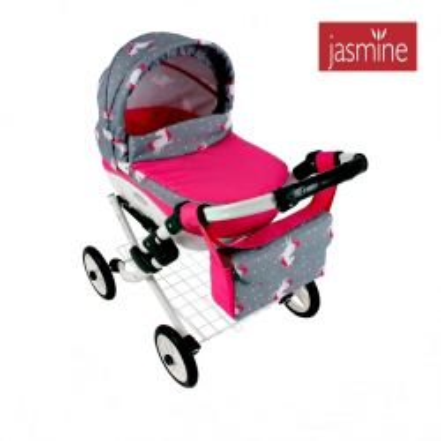 Kočiarik pre bábiky Jasmine Kids Jednorožec S