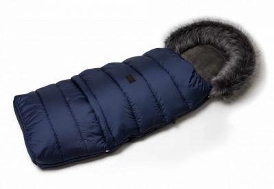 Zimný fusak s kožušinou - modrý
