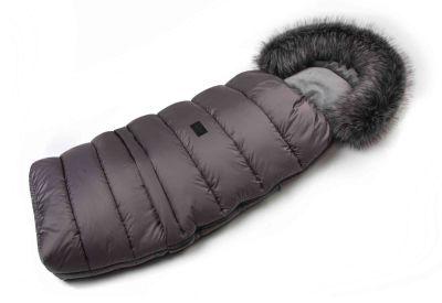 Zimný fusak s kožušinou - šedý