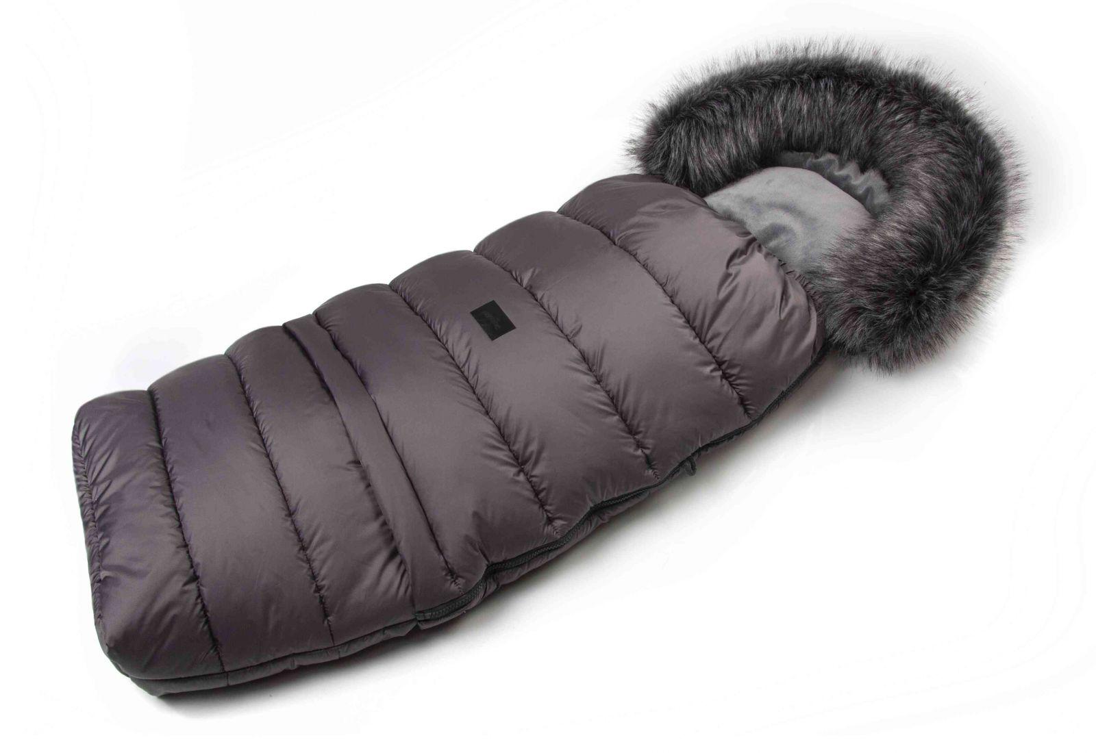 JASMINE Zimný fusak s kožušinou - šedý