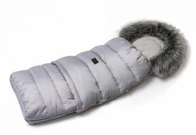 Zimný fusak s kožušinou - svetlo šedý