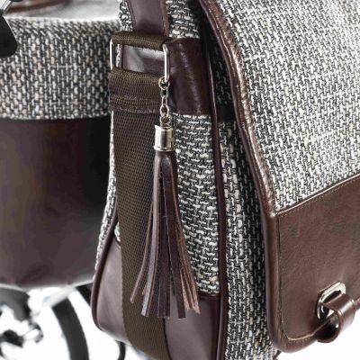 detsail koženej tašky na kočík Jasmine Camino Vintage 01H