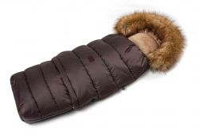Zimný fusak s kožušinou - hnedý