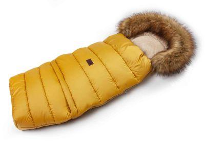 Zimný fusak s kožušinou - medový