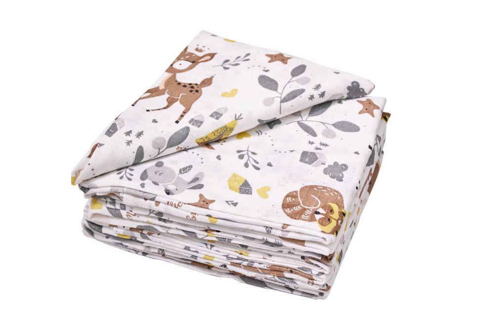 JASMINE Bavlnené plienky s potlačou Dear 70x80 10ks 110g/m2