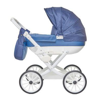 Detský kočiarik pre bábiky Jasmine Kids Elegance modrý